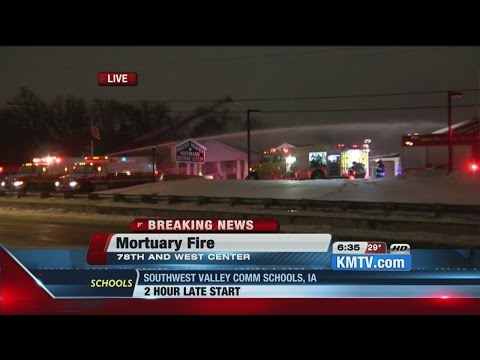Update: Live report from fire at Omaha funeral home