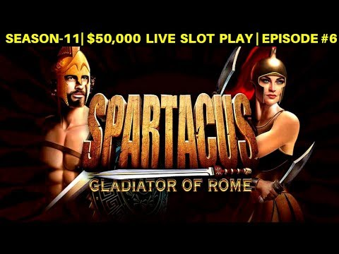 Spartacus Slot Machine $12.50 Max Bet Bonus & Stinkin' Rich Slot Max Bet | SEASON-11 | EPISODE #6