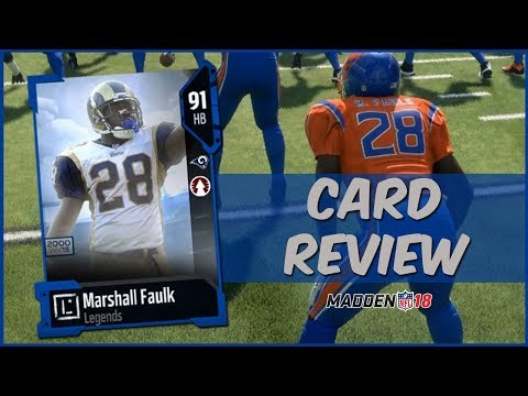 MUT 18 Card Review   Legend Marshall Faulk Gameplay + Card Review