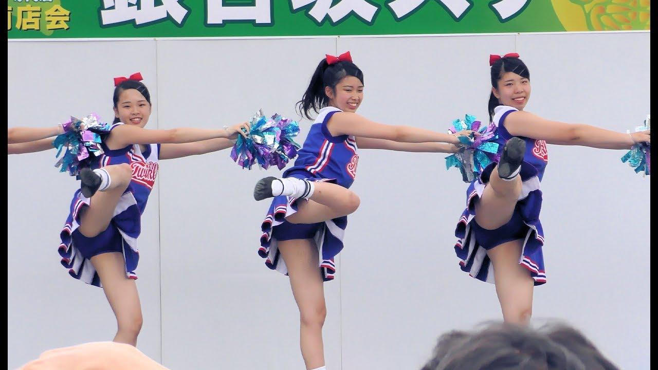 [4K]茨城県立水戸商業高等学校チア・ダンス部「Blue Twinkle's」 第57回水戸黄門まつり銀杏坂ステージ3