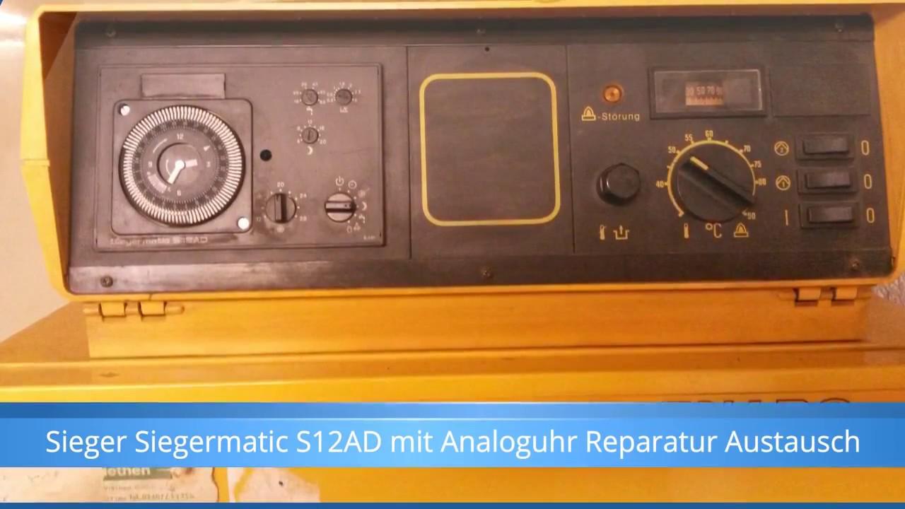 sieger siegermatic s12ad mit analoguhr heizung steuerung. Black Bedroom Furniture Sets. Home Design Ideas