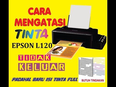 Tutorial / cara mengatasi tinta printer tidak keluar.