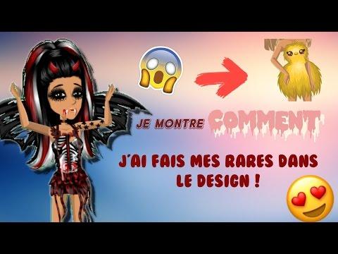 COMMENT J'AI FAIS LES RARES DANS LE DESIGN !!!!!!!!!!!!