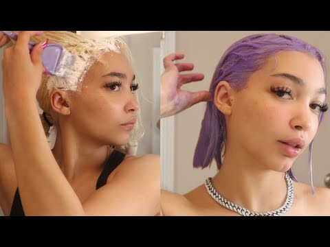 bleaching & dying my hair pastel purple / lavender