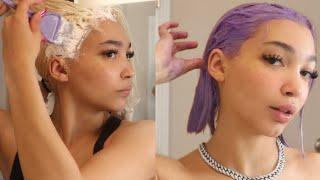 bleaching & dying mỳ hąir paṡtel puŗple / lavender