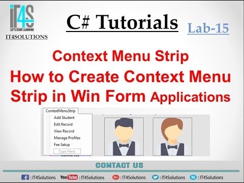 C# Tutorial - How To Use ContextMenuStrip (Right Mouse Click)