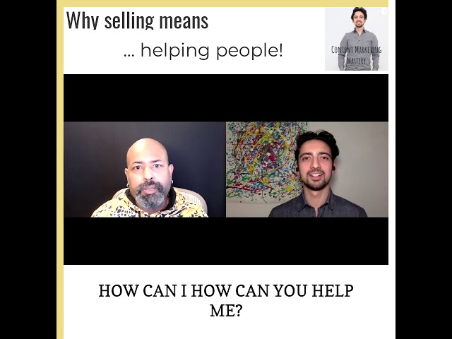 Why selling means helping people