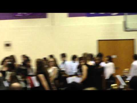 Thornburg Middle School Band - Mr. Patterson gives recognition