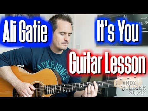 How to play Ali Gatie – It's You Guitar Lesson Tutorial TAB