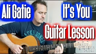 How to play Ali Gatie - It's You Guitar Lesson Tutorial TAB