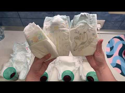 СРАВНЕНИЕ ПОДГУЗНИКОВ ПАМПЕРС для новорожденных.Pampers Premium Care, New Baby Dry, Procare, Pure
