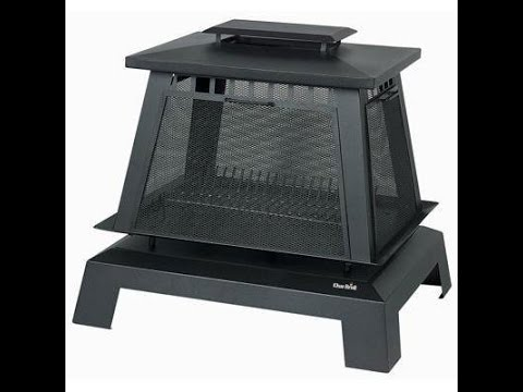 Char-Broil Trentino Deluxe Outdoor Fireplace - YouTube
