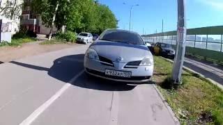 Пермь, автомобили паркуют на велодорожках. Full HD 60fps