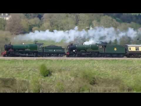 Steamers 4965+5043 ,5z49 @ Newton st Loe 26-04-13