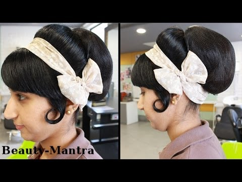 Hairstyle Tutorial Vintage Bun Look