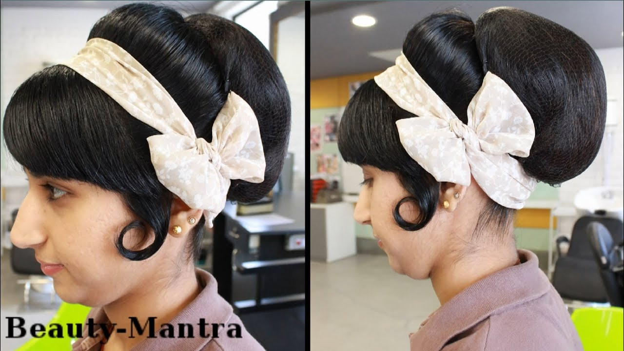 Hairstyle Tutorial Vintage Bun Look Youtube