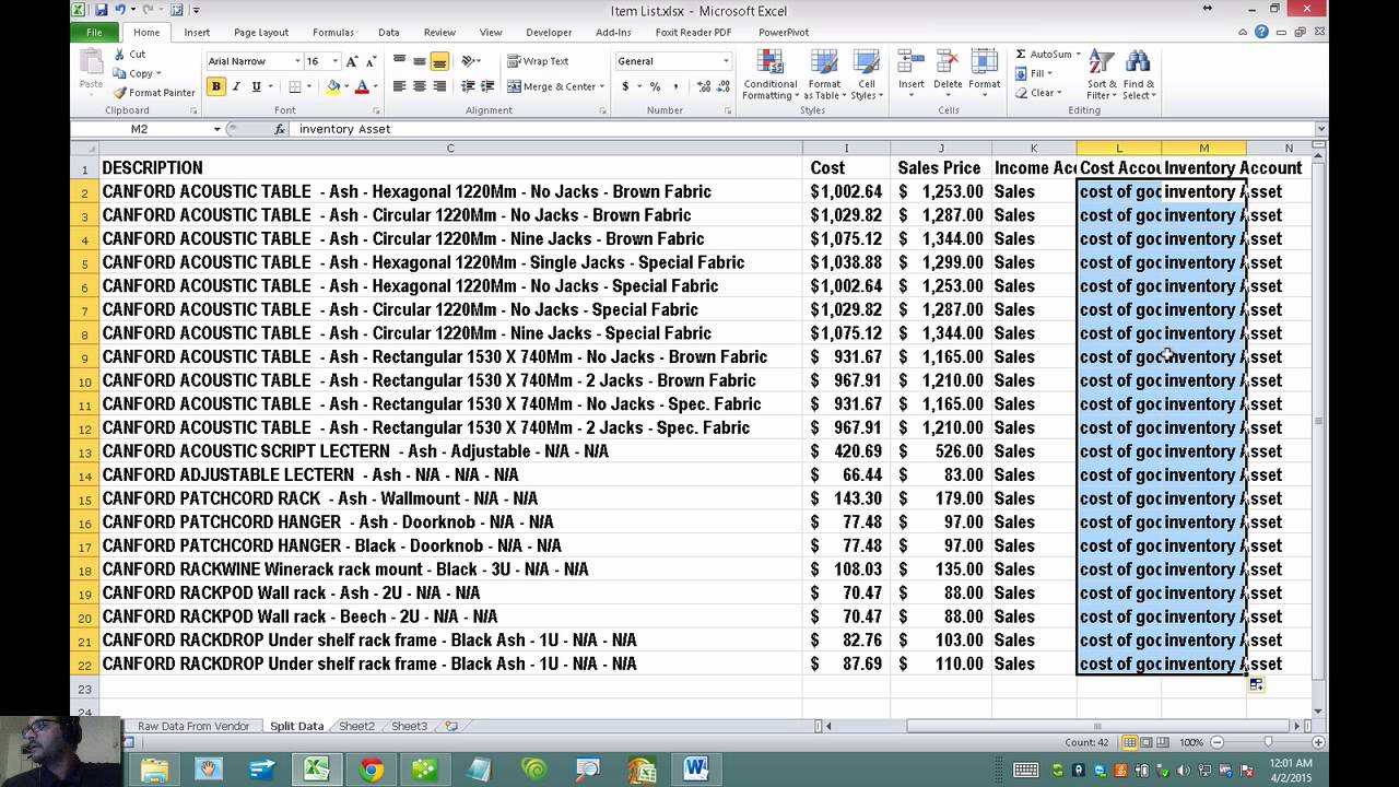 Format and import item list in excel for quickbooks desktop also youtube rh