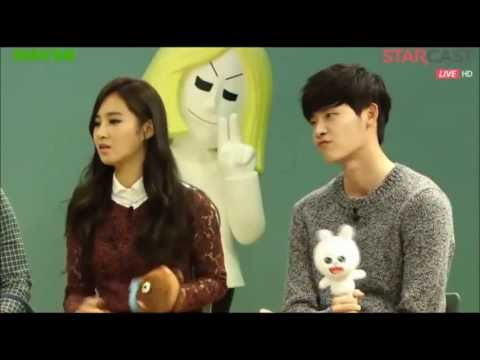 [HD] 131022 No Breathing Line Star Chatting [1/4] (Kwon Yuri SNSD, Seo ...