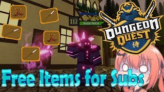 Give lot of Free ITEMS | Dungeon Quest | roblox