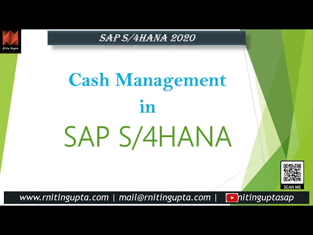 Introduction to Cash Management in SAP S/4HANA