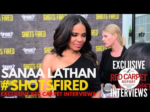 Sanaa Lathan interviewed at Shots Fired FYC Event Red Carpet #ShotsFired