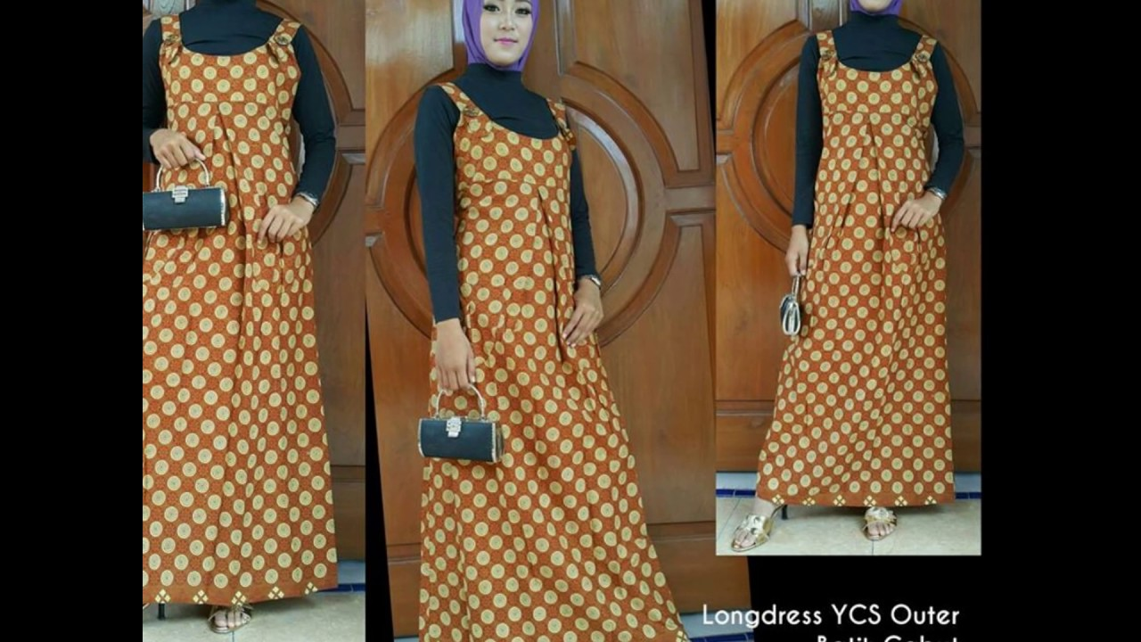 Wa 0812 2533 6662 Gamis Batik Tumpal Gamis Batik Tunik Youtube
