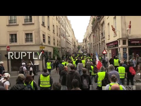 LIVE: 'Yellow Vests' march in Paris for 28th straight week