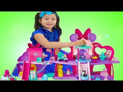 Jannie Pretend Play w/ Minnie Mouse Shopping Mall Dolls Play Set Toy