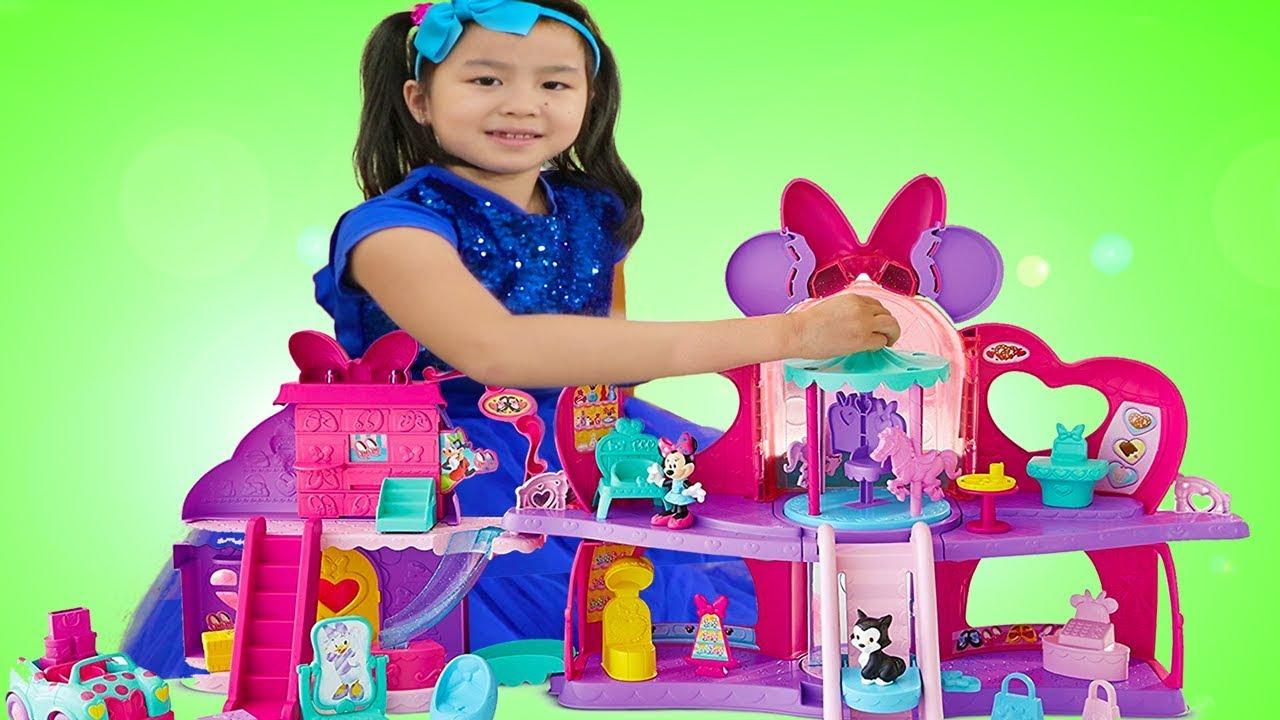 Jannie Pretend Play w/ Minnie Mouse Shopping Mall Dolls Play Set Toy
