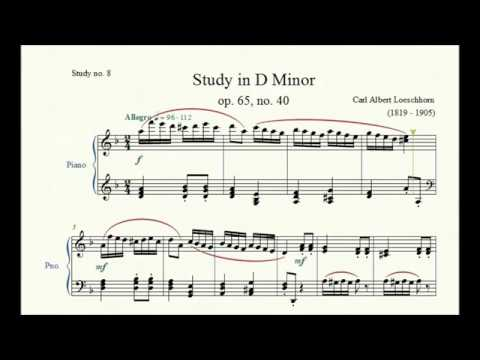 Study no. 8: Study in D Minor (op. 65, no. 40) - Carl Albert Loeschhorn - Piano Studies/Etudes 5