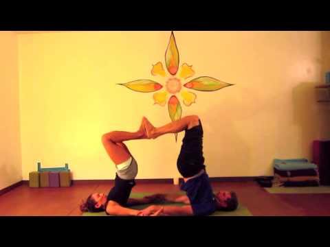 Valentine S Day Partner Yoga Flow 8 Min Youtube