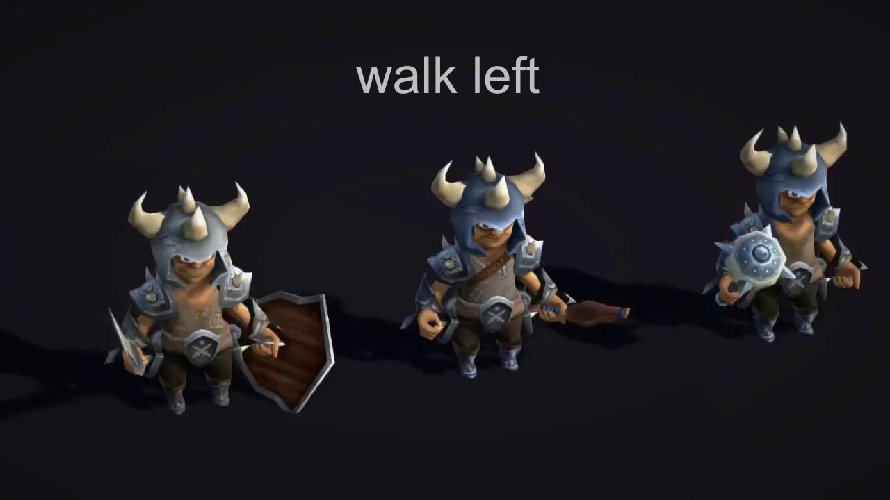 Unity3D Assets - 3D Low Poly Animated Fantasy Bandits