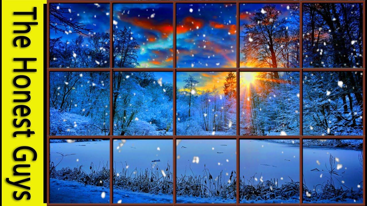 WINTER WINDOW SNOW SCENE (4K) - Living Wallpaper with ...