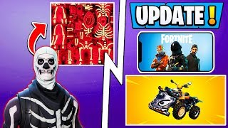 *NEW* Fortnite Update! | Red Skull Trooper, Quadcrasher, Loot Lake Secret!
