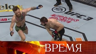Хабиб Нурмагомедов победил Конора Макгрегора, но после оскорблений из зала боец сдержаться не смог.