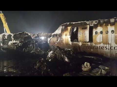 Images Of The Emirates Plane That Burst Into Flames In Dubai