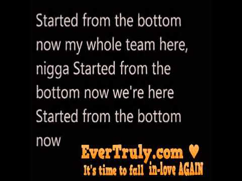 Drake - started from the bottom lyrics DIRTY...