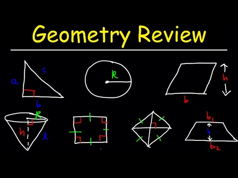 Geometry Introduction Basic Overview Review For SAT ACT EOC Math Lessons Midterm Final Exam