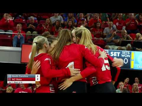 2017.09.22 North Carolina Tar Heels at NC State Wolfpack Volleyball