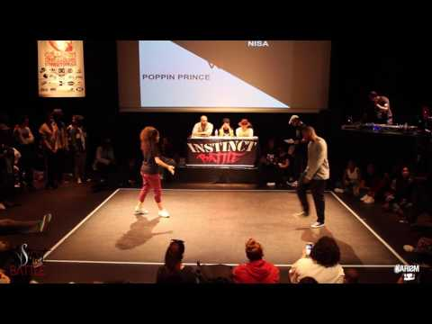 Instinct Battle 2017   1/8 Finale Pop   Poppin Prince Vs Nisa