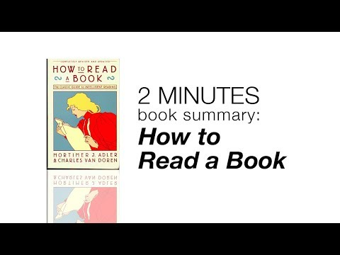 2 Minutes Book Summary: How to Read a Book