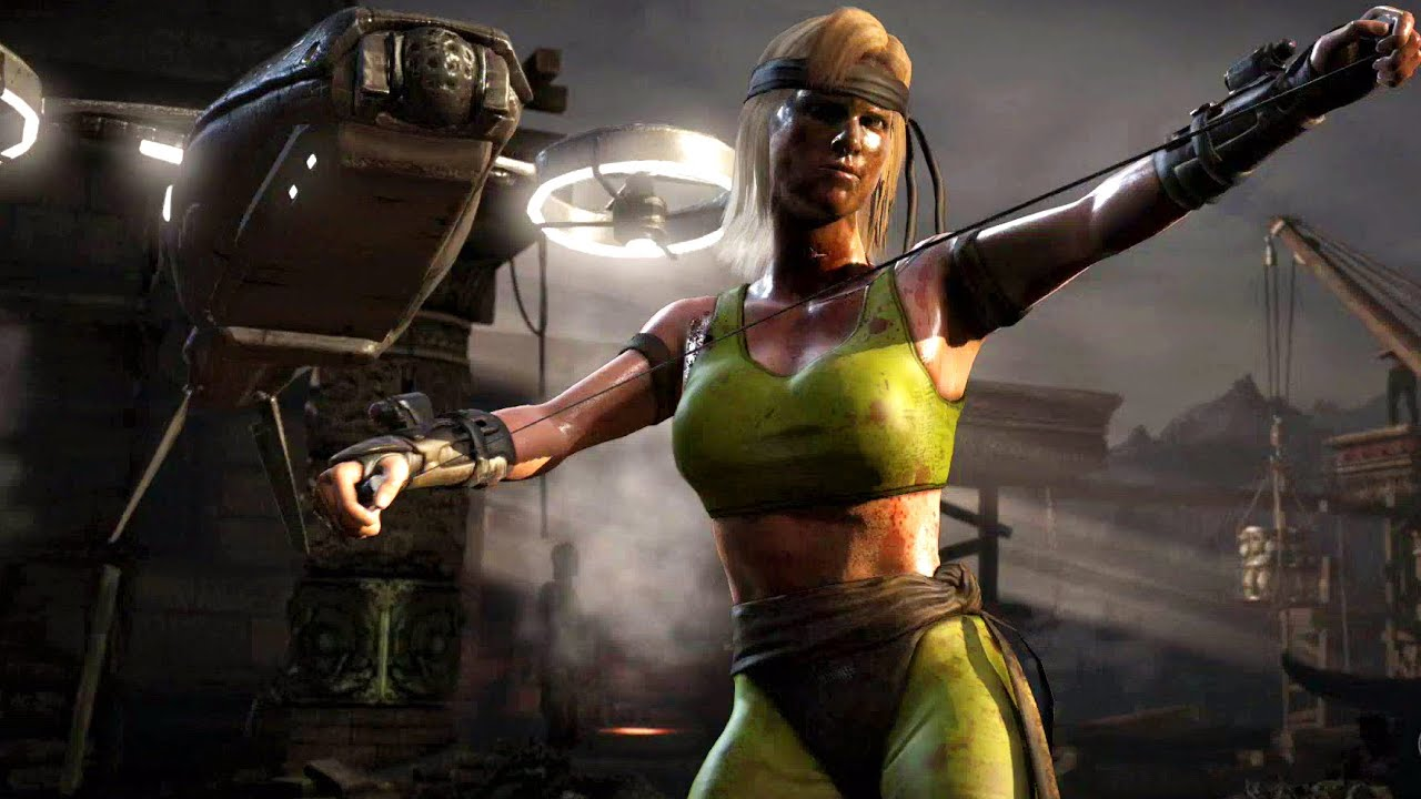 Mortal Kombat X Sonya Mk1 Costume Ladder Walkthrough And Ending