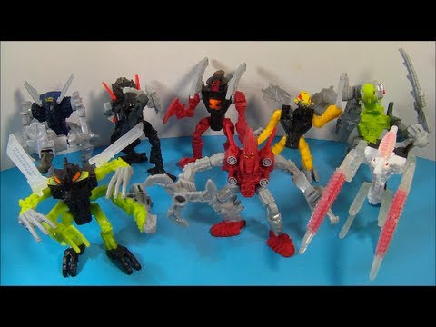2008 LEGO BIONICLE MISTIKA SET OF 8 McDONALD'S HAPPY MEAL TOY'S VIDEO REVIEW