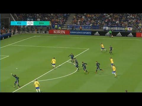[HD] Brésil vs Japon   Match Amical FIFA   10 Novembre 2017   PES 2018