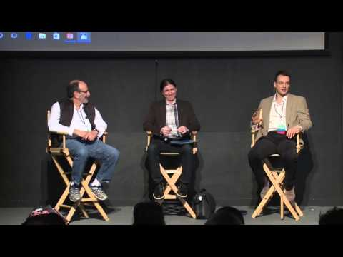 Simon Rothman (Greylock), Andrei Hagiu (Harvard) and Al Roth (Stanford) at Startup Grind 2016
