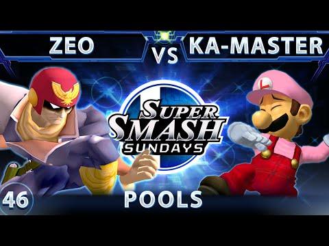 SSS 46 - Zeo (Falcon) Vs. Ka-Master (Luigi) SSBM Pools - Smash Melee