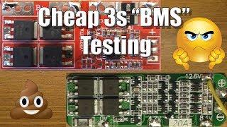3s Li-ion BMS/Protection Board Testing