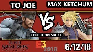 E3 2018 - SSBU Demo - Toronto Joe (Snake) Vs. Max Ketchum (Cloud) Smash Bros. Ultimate - Exhibition