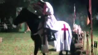Spettacolo a cavallo lizza dei cavalieri della tavola rotonda