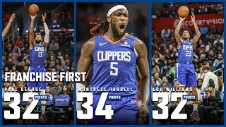 Paul George, Lou Williams, and Montrezl Harrell Make Franchise History vs. Knicks   LA Clippers